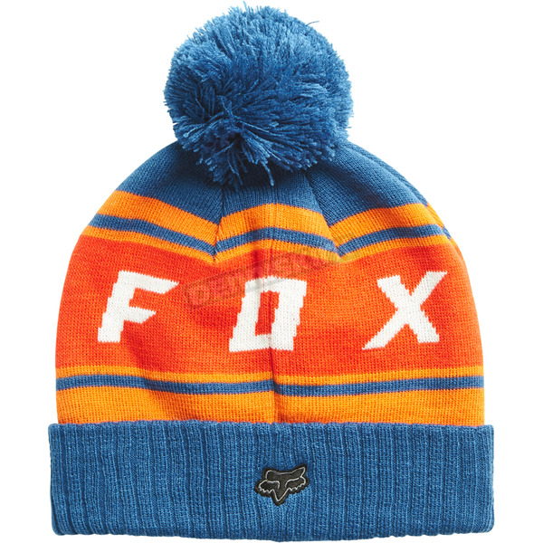 Fox Dusty Blue Black Diamond Pom Beanie - 19778-157-OS