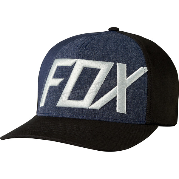 Fox Black Blocked Out FlexFit Hat - 19557-001-L/XL