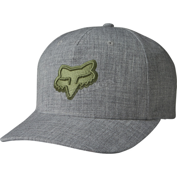 Fox Heather Gray Heads Up FlexFit Hat - 19561-040-L/XL