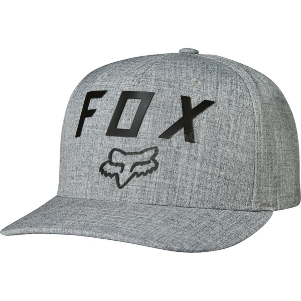Fox Heather Gray Number 2 FlexFit Hat - 19558-040-L/XL