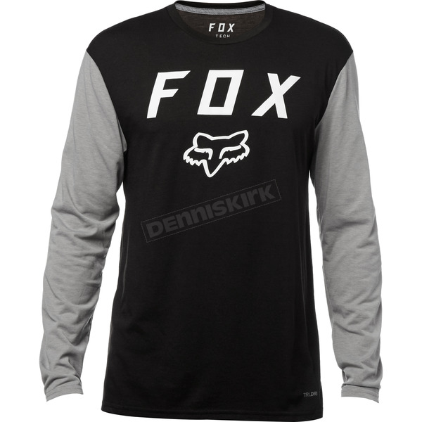 Fox Black Contended Long Sleeve Tech Shirt - 19698-001-2X