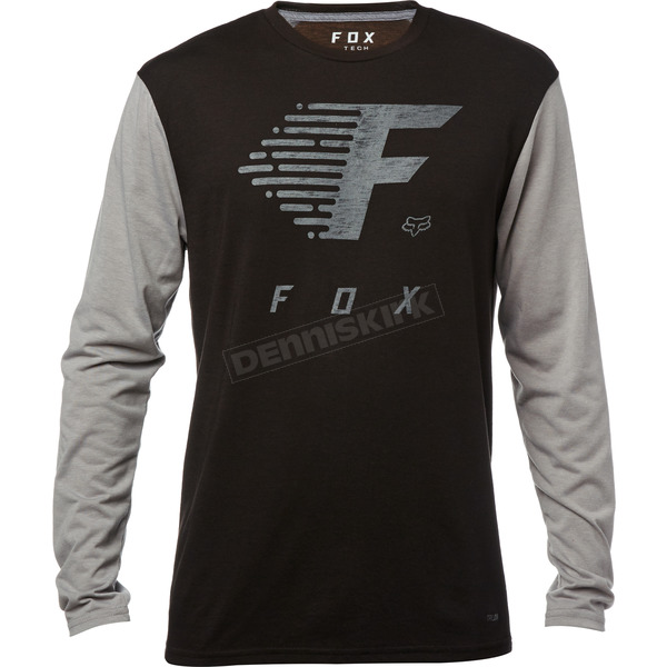 Fox Black Fade to Track Tech Long Sleeve Shirt - 20371-001-XL