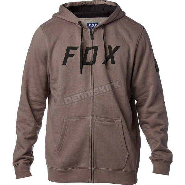 Fox Gray District 2 Zip Hoody - 19686-006-2X