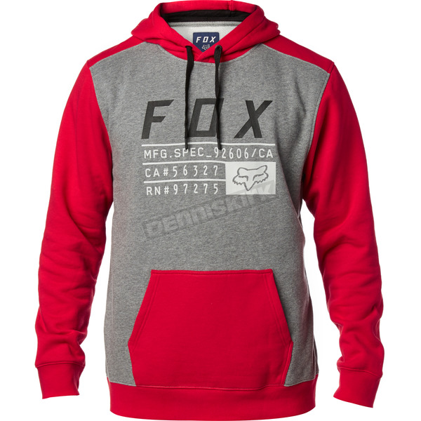 Fox Dark Red District 3 Pullover Hoody - 19692-208-2X