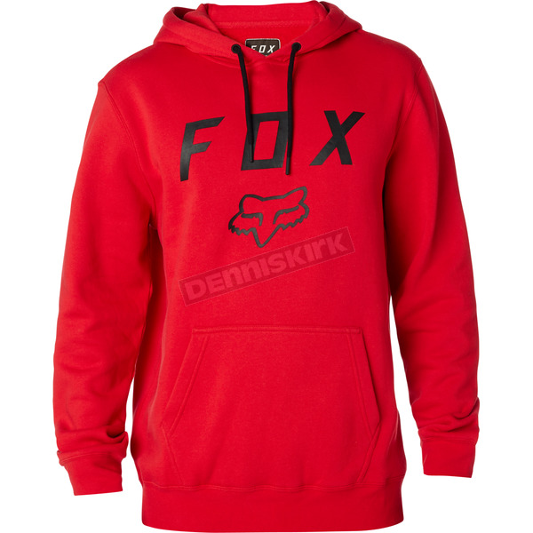 Fox Flame Red Legacy Moth Pullover Hoody - 20555-122-L