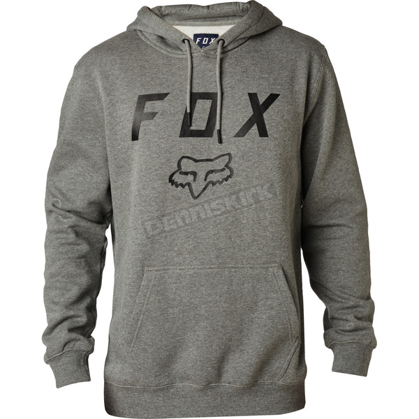 Heather Graphite Legacy Moth Pullover Hoody