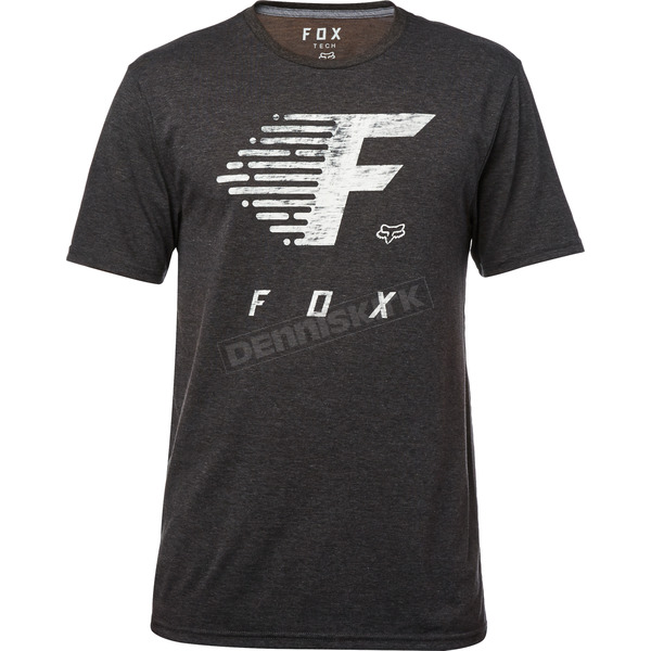 Fox Heather Black Fade to Track Tech T-Shirt - 19744-243-2X