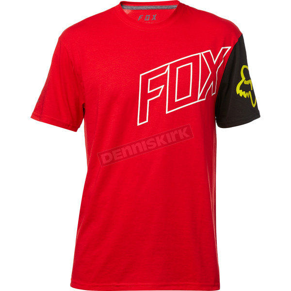 Fox Dark Red Moto Vation Tech T-Shirt - 19731-208-M
