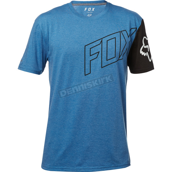 Fox Heather Blue Moto Vation Tech T-Shirt - 19731-522-L