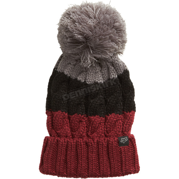 Fox Women's Dark Red Valence Beanie - 20574-208-OS