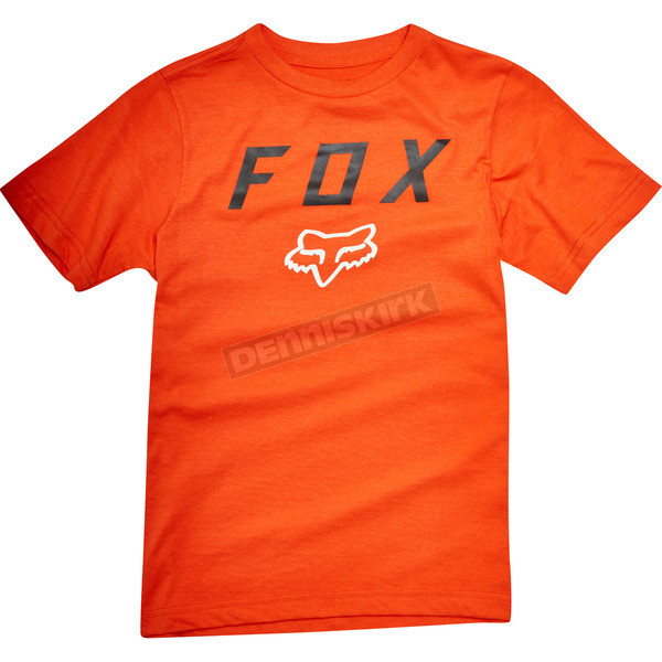 Fox Youth Orange Contended T-Shirt - 19809-009-YL