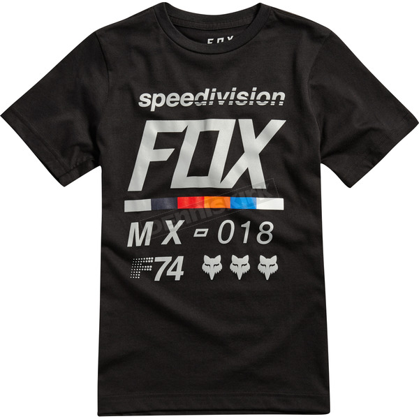 Fox Youth Black Draftr T-Shirt - 19803-001-YL