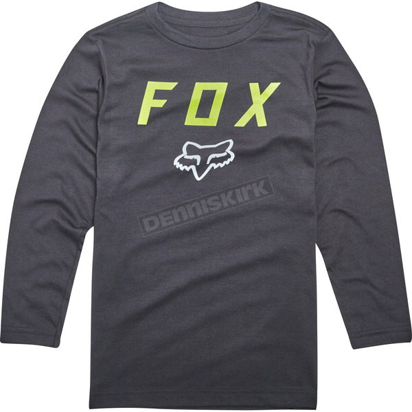 Fox Youth Black Dusty Trails Long Sleeve Shirt - 19798-001-YS