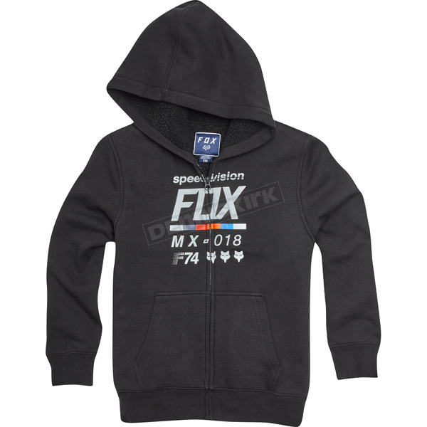 Fox Youth Black Draftr Sherpa Zip Hoody - 20764-001-YS
