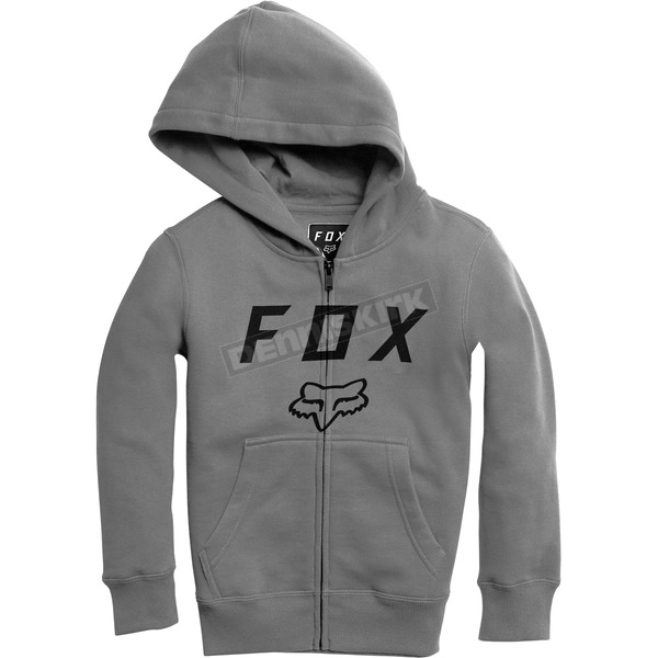 Youth Heather Graphite Legacy Moth Zip Hoody
