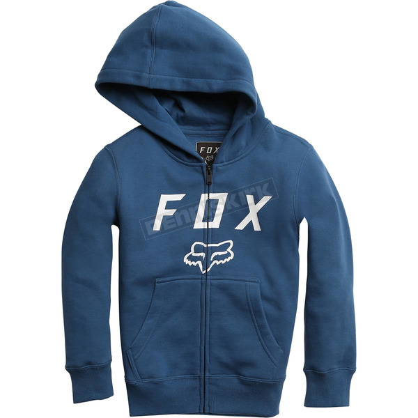 Fox Youth Blue Legacy Moth Zip Hoody - 20722-002-YS