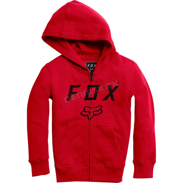 Fox Youth Flame Red Legacy Moth Zip Hoody - 20722-122-YM