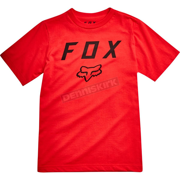 Fox Youth Flame Red Legacy Moth T-Shirt - 20731-122-YXL