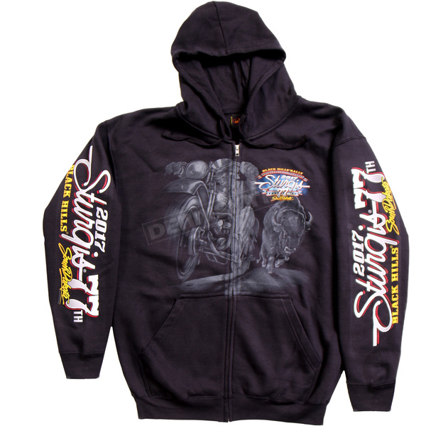 Hot Leathers Black 2017 Sturgis Uncle Sam Racer Zip Hoody - SPM4585XL