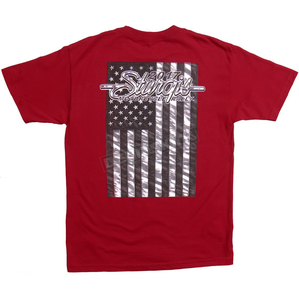 Hot Leathers Indy Red 2017 Sturgis American Flag T-Shirt - SPM1633XL