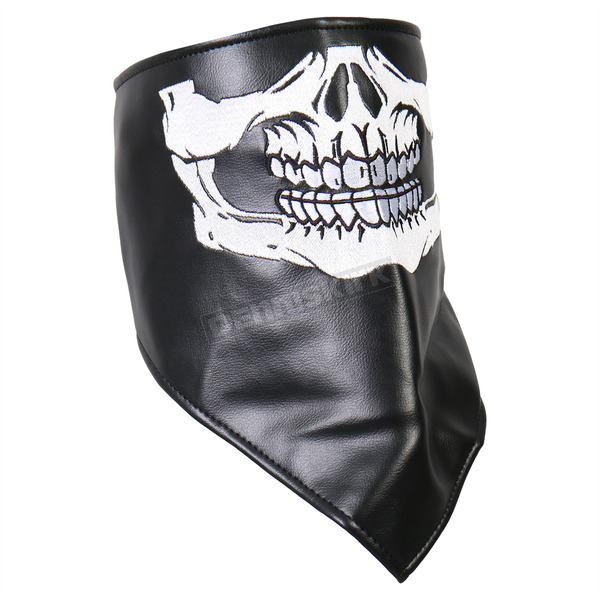 Hot Leathers Black/White Skull Face Bandana - NWL1004
