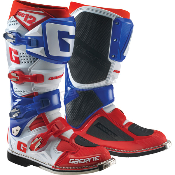 Gaerne White/Blue/Red SG-12 Boots - 2174-052-011