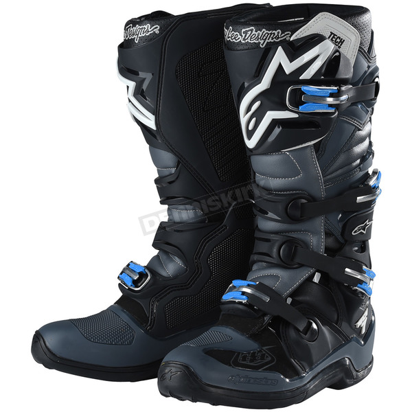 Alpinestars Black/Gray Tech 7 Troy Lee Designs Boots - 9391982910