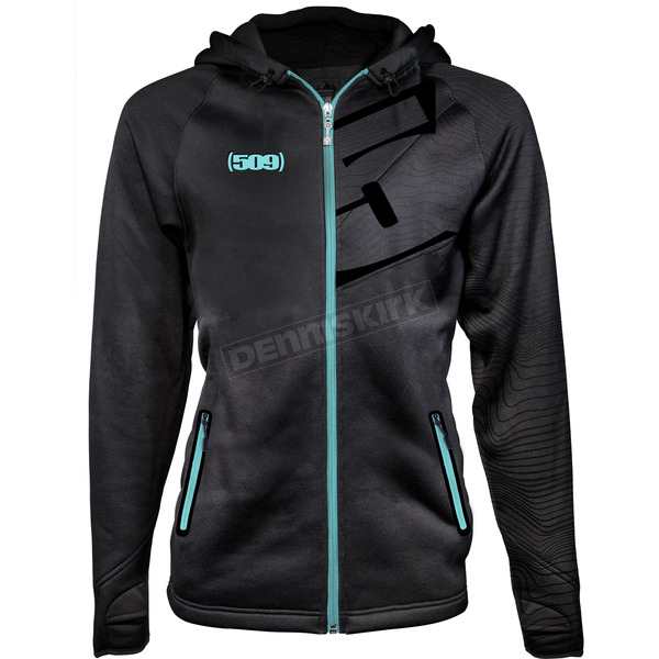 509 Women's Teal Tech Zip Hoody - 509-CLO-WTZ8T-2X