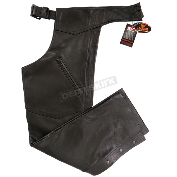 Hot Leathers USA Made Premium Leather Chaps - CHM5001XXL