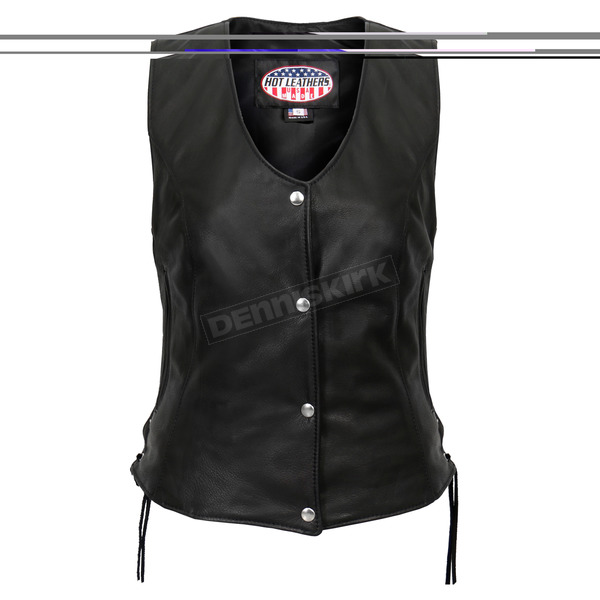 Hot Leathers Womens USA Made Side Lace Vest - VSL5002S