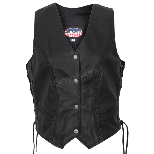 Hot Leathers Womens USA Made Leather Vest - VSL5001M