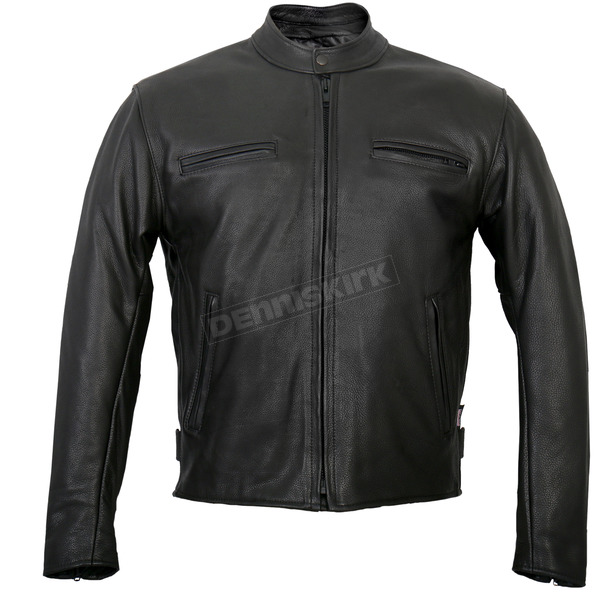 Hot Leathers USA Made Premium Leather Racer Jacket - JKM5001-50