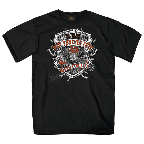Hot Leathers Black Angry Eagle T-Shirt - GMD1382XXXL