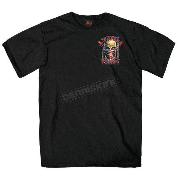 Hot Leathers Black America Rising T-Shirt - GMD1364XXL