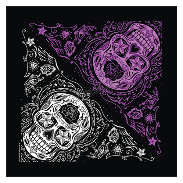 Hot Leathers Sugar Skull Bandana - BAB1059