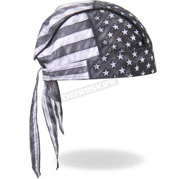 Hot Leathers Gray Flag Headwrap - HWH1092
