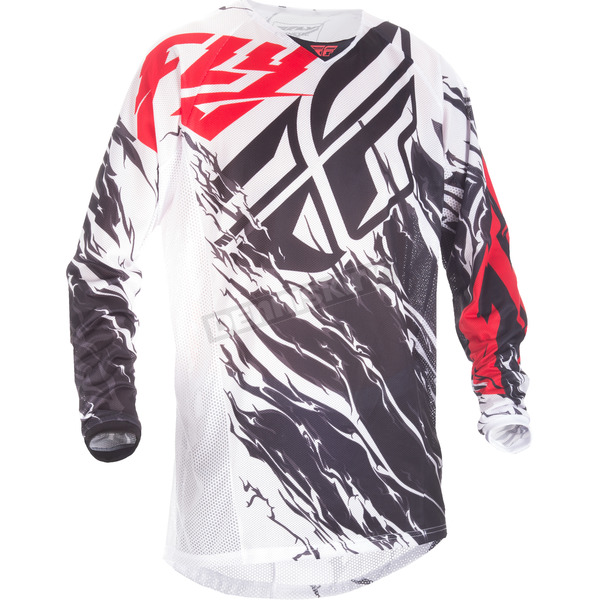 Fly Racing Black/White/Red Relapse Kinetic Mesh Jersey - 371-320X