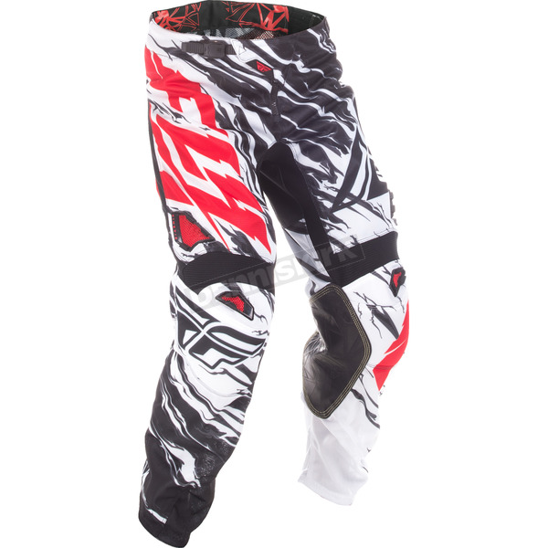 Fly Racing Black/White/Red Relapse Kinetic Mesh Pants - 371-33038