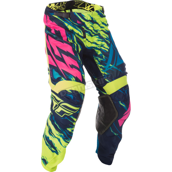 Fly Racing Hi-Vis/Blue/Pink Relapse Kinetic Mesh Pants - 371-33338