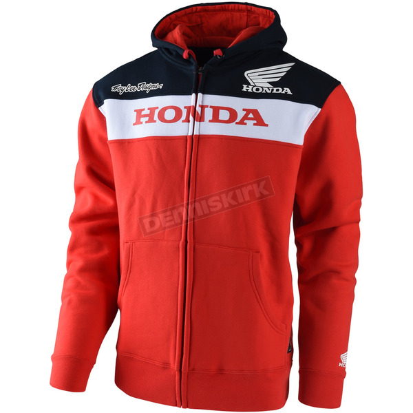 Troy Lee Designs Red Honda Zip-Up Hoody - 730515434