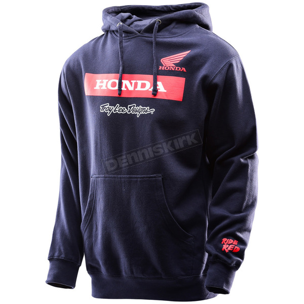 Troy Lee Designs Navy Honda Wing Block Pullover Hoody - 731417344