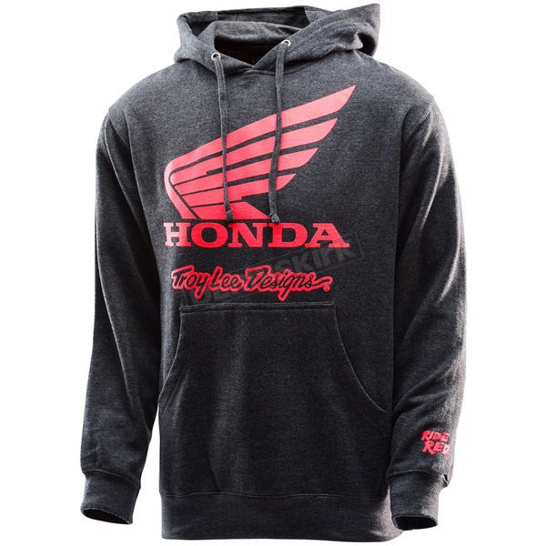 Troy Lee Designs Heather Charcoal Honda Wing Pullover Hoody - 731416943