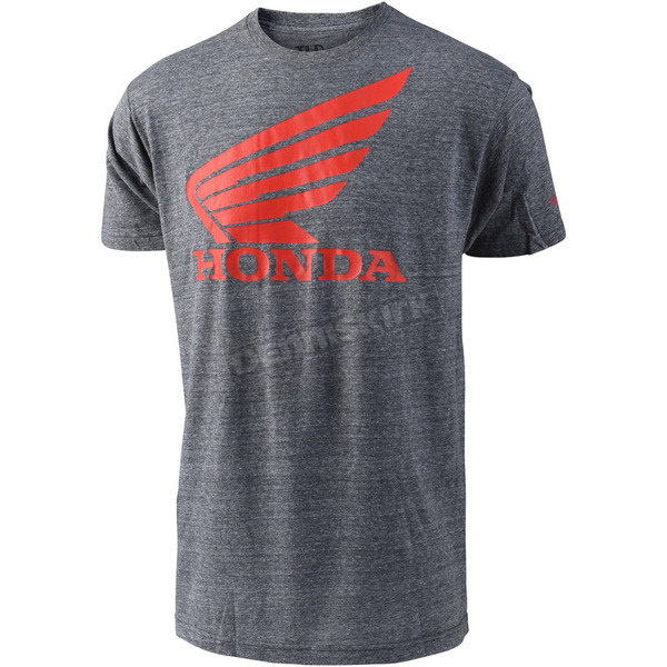 Troy Lee Designs Heather Gray Honda Wing T-Shirt - 701416902