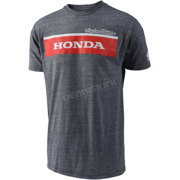 Troy Lee Designs Heather Gray Honda Wing Block T-Shirt - 701516944