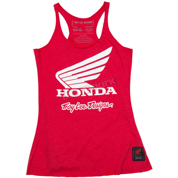 Troy Lee Designs Women's Heather Red Honda Wing Tank Top - 721416413