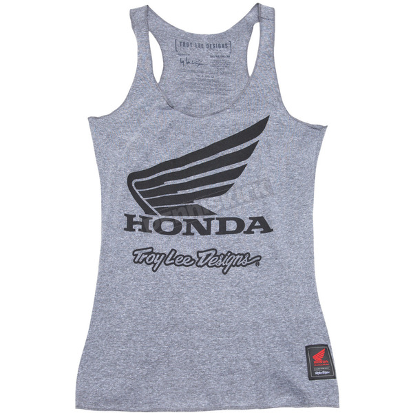 Troy Lee Designs Women's Heather Gray Honda Wing Tank Top - 721416923