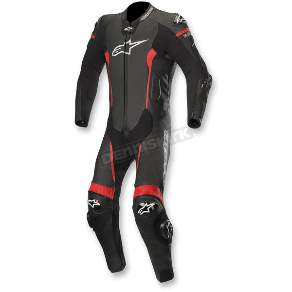Alpinestars Black/Red Missile 1-Piece Leather Suit - 3150118-13-46