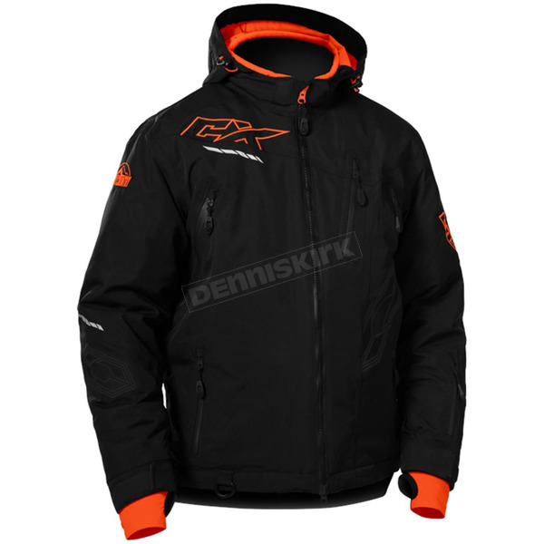 Castle X Black/Orange Rival Jacket - 70-6356