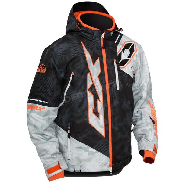 Castle X Alpha Black/Alpha Gray/Orange Stance Jacket - 70-6559