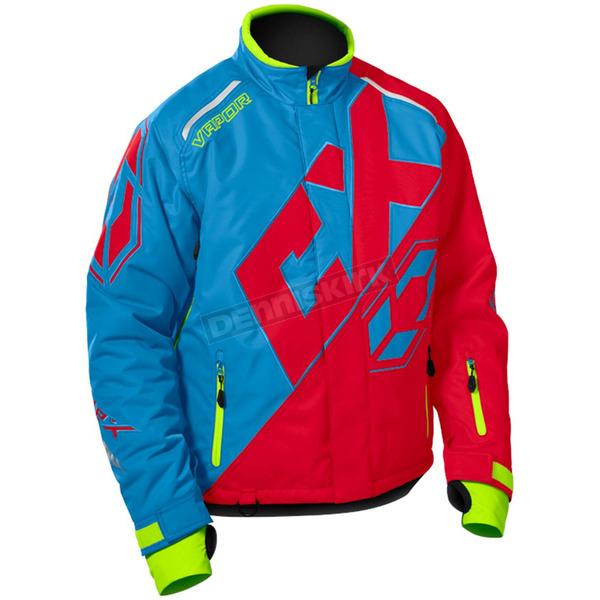 Castle X Process Blue/Red/Hi-Vis Vapor Jacket - 70-6784